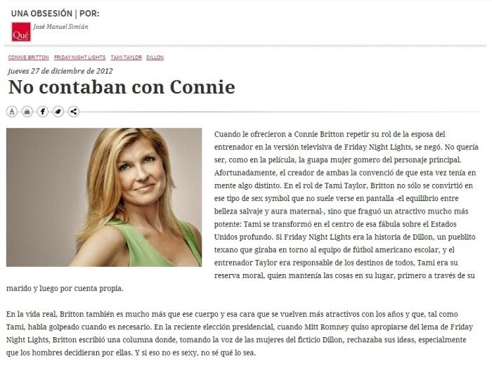 QP Connie Britton